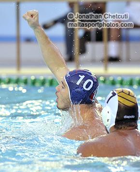 Sean Gravina celebrates his fantastic goal in the first session