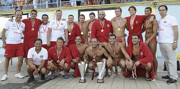 Steve and Jordan Camilleri with the league winning Neptunes team in 2011